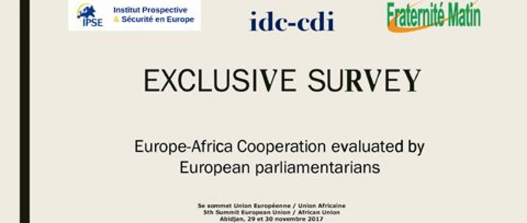 Europe-Africa Cooperation evaluated by European Parliamentarians