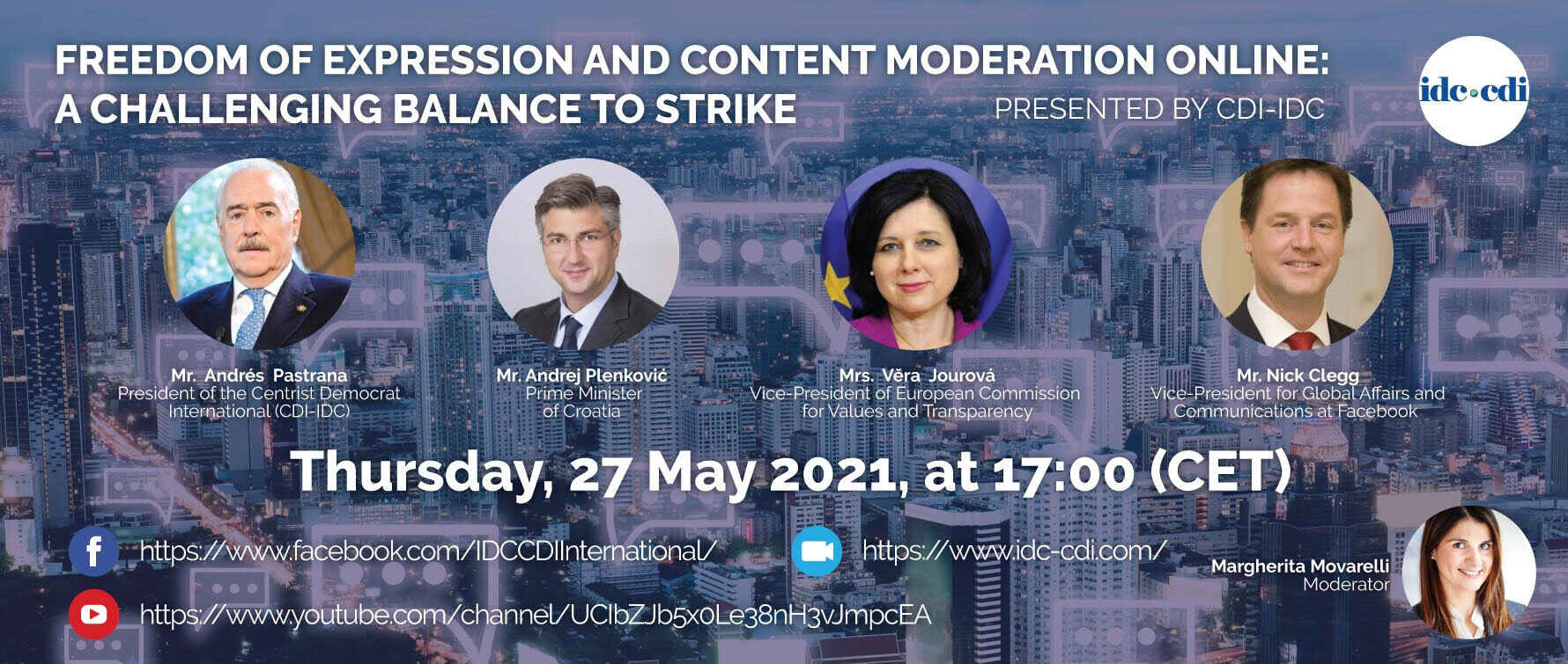 LIVE Webinar: Freedom of expression and content moderation online: a challenging balance to strike
